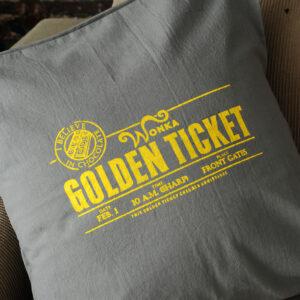 Almohadones: Wonka Golden Ticket 45×45