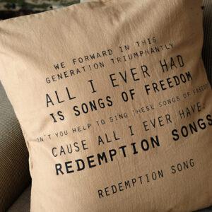 Almohadones: Redemption Song 45×45