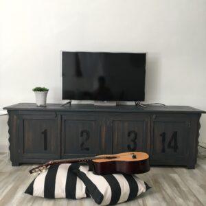 Mueble Bajo Vertigo gris Oscuro