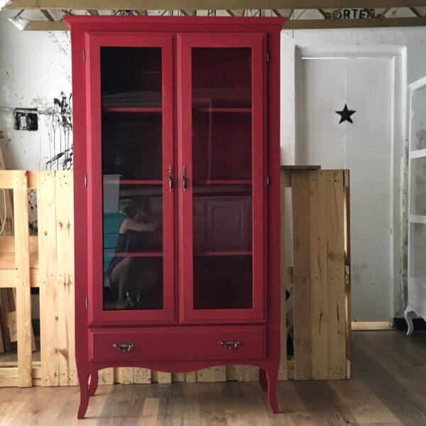 vitrina-biblioteca vintage