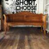 banco de madera vintage grande