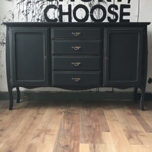 Mueble Bahiut vintage Cottage Black