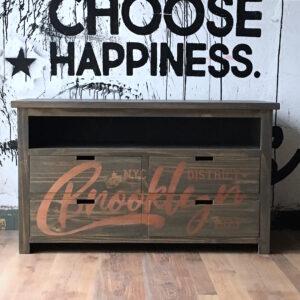 Plan Ahora 12: Mueble vintage Brooklyn estampado Madera y Cobre